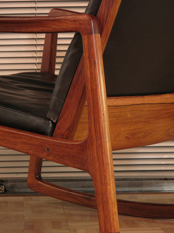 Ole Wanscher Rosewood Rocking Chair Mcm Interiors