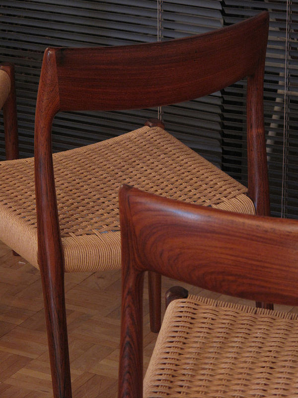 Set Of Six Niels Moller Model 77 Rosewood Chairs Mcm